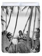 A Native Hawaiian Dancer Duvet Cover
