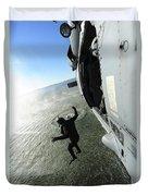 A Naval Air Crewman Jumps From An Duvet Cover