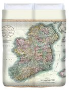 A New Map Of Ireland 1799 Duvet Cover