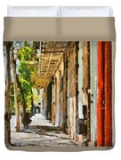 A New Orleans Alley Duvet Cover