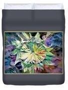A New Sun Flower Duvet Cover by Mindy Newman