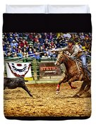 A Night At The Rodeo V10 Duvet Cover