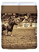 A Night At The Rodeo V22 Duvet Cover