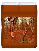 A November Stroll Through Formby Woods Duvet Cover