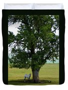 A One Horse Tree And Its Horse Duvet Cover