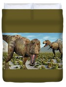 A Pack Of Tyrannosaurus Rex Dinosaurs Duvet Cover