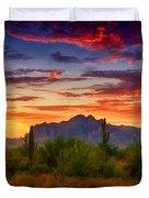 A Painted Desert  Duvet Cover