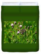 A Painted Lady Duvet Cover