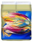 A Painted Tulip. Duvet Cover