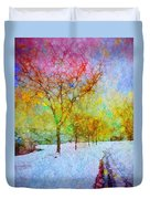 A Painted Winter Duvet Cover