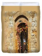 A Painting A Tuscan Shop Doorway Duvet Cover