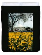 A Painting Jefferson Memorial Dali-style Duvet Cover