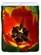 A Painting Red Tulip Duvet Cover