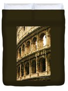 A Painting The Colosseum Duvet Cover