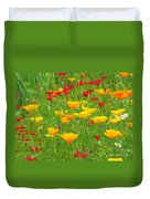 A Painting Tuscan Poppies Duvet Cover