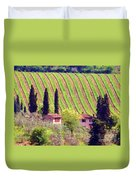 A Painting Tuscan Vineyard Duvet Cover