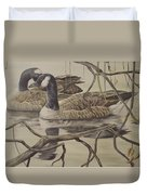 A Pair Of Ducks Duvet Cover