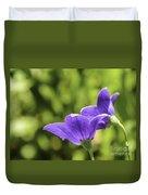 A Pair Of Purple Balloon Flowers Duvet Cover