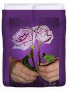 A Pair Of Purple Roses Duvet Cover