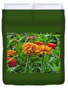 A Pair Of Yellow Zinnias 03 Duvet Cover
