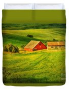 A Palouse Farm Duvet Cover