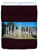 A Panoramic View Of Columns Surround Duvet Cover