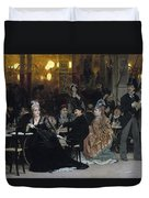 A Parisian Cafe Duvet Cover by Ilya Efimovich Repin