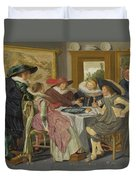 A Party At Table Duvet Cover