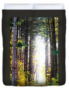 A Path In The Pines Duvet Cover