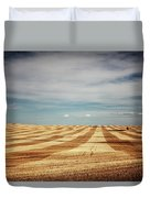A Pattern Of Stripes Across A Farmers Duvet Cover