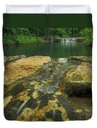 A Peaceful Early Morning At Little Niagra Waterfall A Duvet Cover