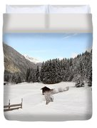 A Peaceful Winterscene Duvet Cover