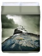 A Peak Of A Mountain Top In The Rocky Duvet Cover