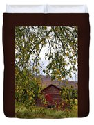 A Peak Of Fall Red Barn Duvet Cover
