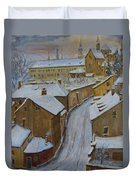A Perfect Winter Night Duvet Cover