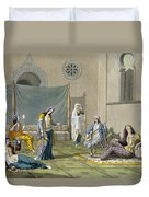 A Persian Harem, From Le Costume Ancien Duvet Cover
