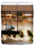 A Pigeon In A Cage Duvet Cover
