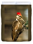 A Pileated With Intent Duvet Cover