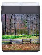 A Place Of Peace Among The Daffodils Duvet Cover