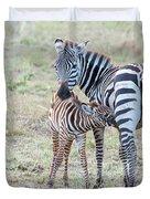 A Plains Zebra, Equus Quagga, Nursing Duvet Cover