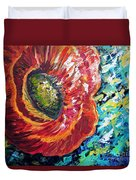 A Poppy Takes Center Stage Duvet Cover