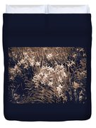 Clusters Of Daffodils In Sepia Duvet Cover