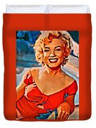 A Portrait Of Marilyn Duvet Cover