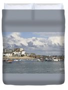 A Postcard From St Ives Duvet Cover