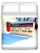 A Prayer Away Duvet Cover