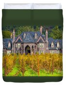The Ledson Castle - Kenwood, California Duvet Cover