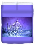 A Purple Winter Duvet Cover