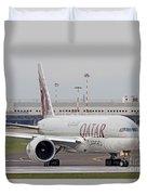 A Qatar Airways Cargo Boeing 777 Duvet Cover
