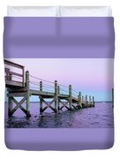 A Quiet Evening At Dusk With A Moonrise Duvet Cover