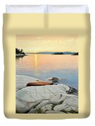 A Quiet Time Duvet Cover by Kenneth M  Kirsch